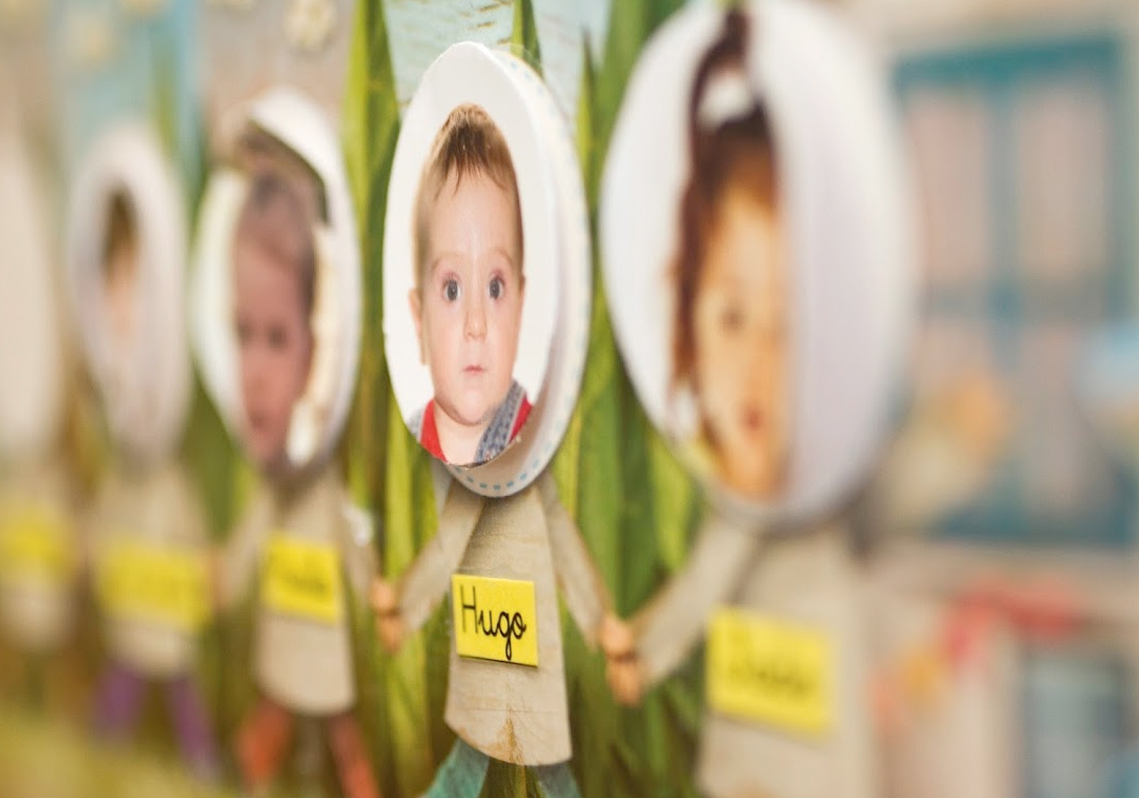 mural fotos niños